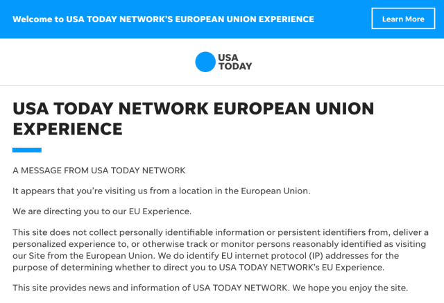 effects of gdpr on usa today