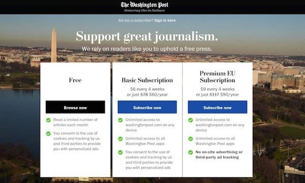 washington post gdpr response
