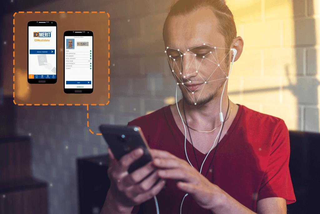 identity verification using biometrics on a mobile app